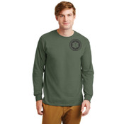 Military Green Long Sleeve Cotton T-shirt
